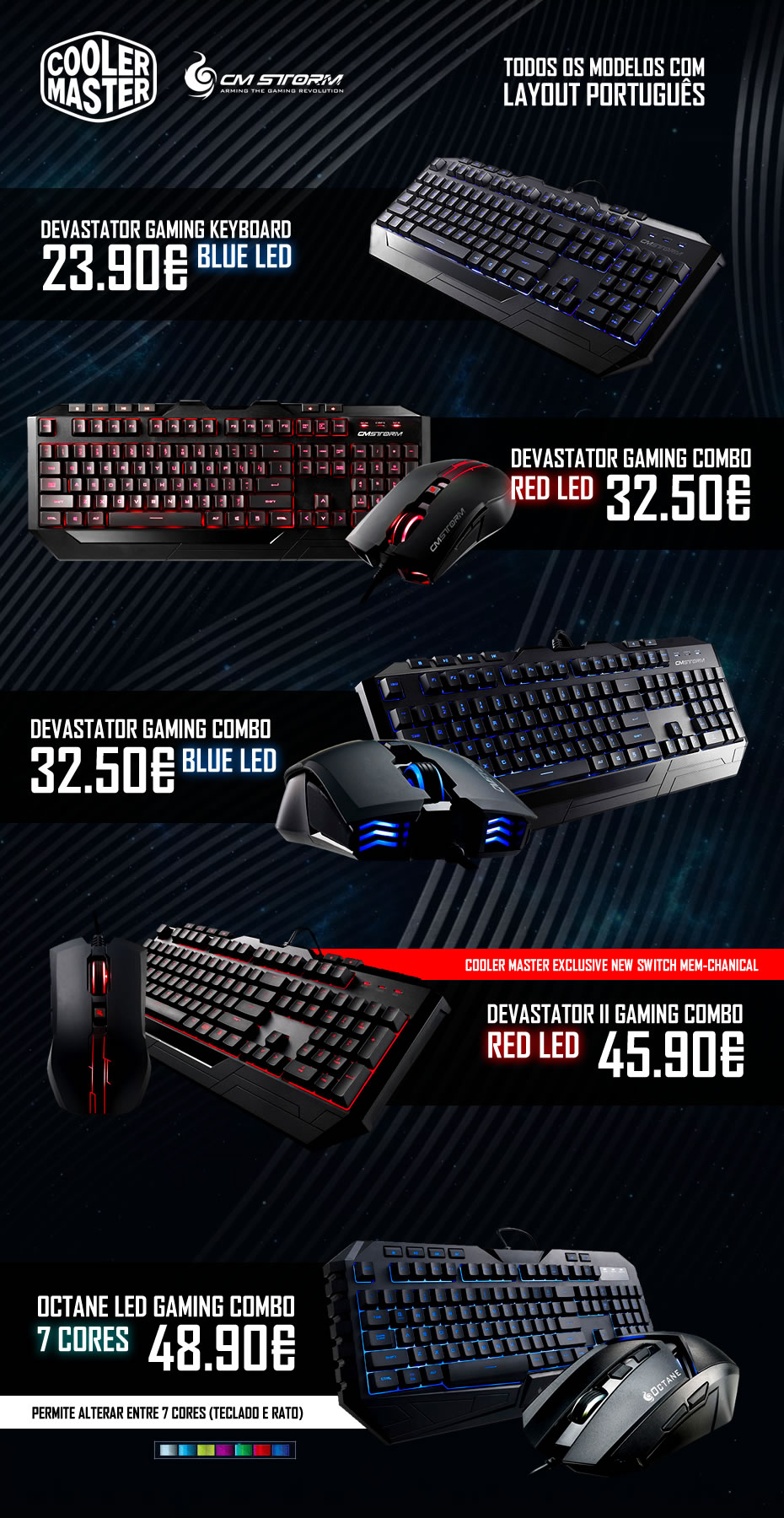 CM STORM Gaming Keyboards
